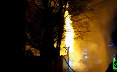 Pożar na warszawskiej Białołęce