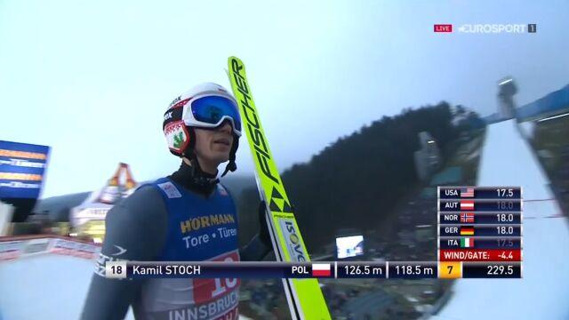 Skok Kamila Stocha z 2. serii konkursu w Innsbrucku