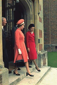 Z Pati Nixon, żoną prezydenta USA
