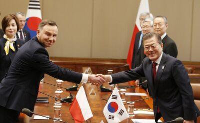 Prezydent Duda odbiera Honorowe Obywatelstwo Seulu