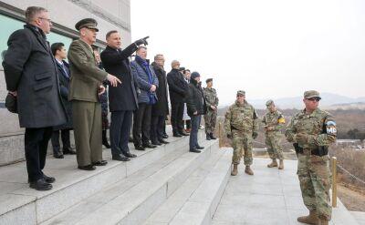 Prezydent Andrzej Duda odwiedził strefę zdemilitaryzowaną