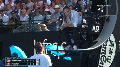 Roger Federer podpadł sędzi, teraz zapłaci. Trzy tysiące dolarów kary za wulgaryzmy