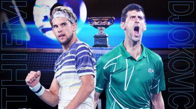 Thiem kontra Djoković w finale Australian Open. Plan transmisji z 14. dnia