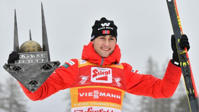 Riiber zdominował tryptyk w Seefeld. Ogromna przewaga w klasyfikacji generalnej