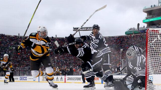 Ponad 75 tysięcy kibiców na meczu hokeja. Grano na otwartym stadionie