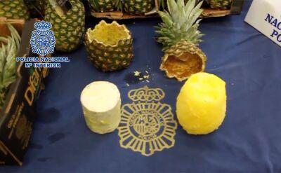 67 kilogramów kokainy w ananasach