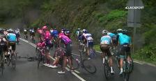 Upadek Daniela Martineza na 1. etapie Vuelta a Espana