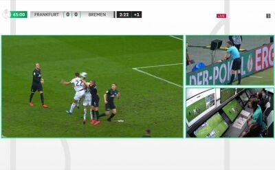 VAR w akcji. Andre Silva wykorzystał karnego, Eintracht Frankfurt na prowadzeniu