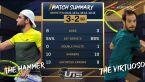 Skrót meczu Berrettini - Gasquet w półfinale Ultimate Tennis Showdown