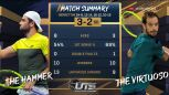 Skrót meczu Berrettini - Gasquet w półfinale Ultimate Tennis Showdown