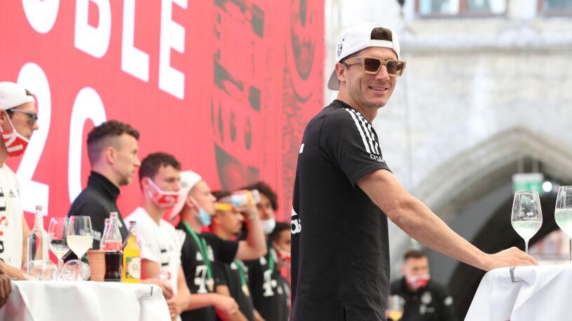 Huczne świętowanie piłkarzy Bayernu
