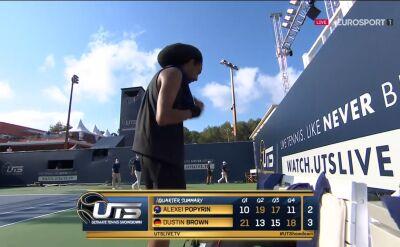 Brown pokonał Popyrina w Ultimate Tennis Showdown