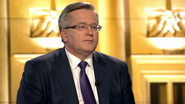 """Cała rozmowa z prezydentem Bronisławem Komorowskim w """"Faktach po Faktach"""""""