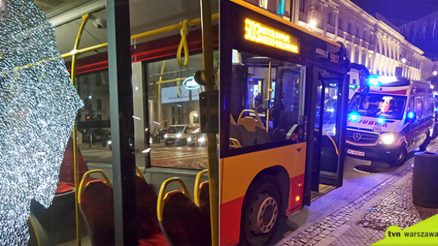 Gwałtowne hamowanie autobusu. Są ranni