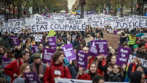 Coraz więcej kobiet ginie z rąk partnerów. Olbrzymie protesty w 30 miastach Francji