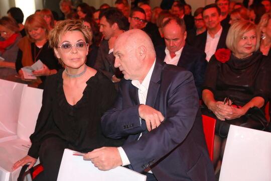 Justyna Pochanke i Adam Pieczyński podczas gali