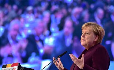 Merkel podczas zjadu partii CDU