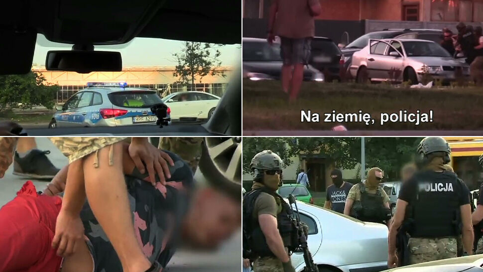 """Reporterzy z kamerą w policyjnej akcji. Zatrzymania """"dilerów śmierci"""""""