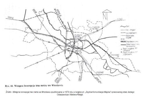 Tak zaplanowali wrocławskie metro w 1979 roku