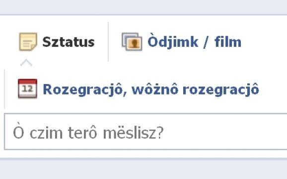 Facebook po kaszubsku