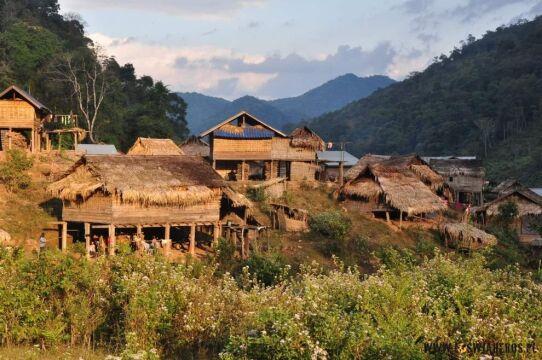 Wioska w północnym Laosie