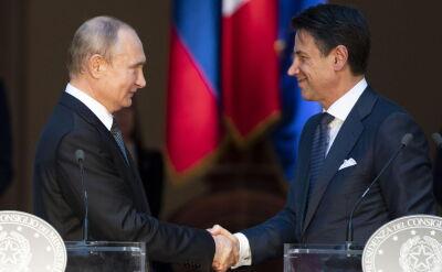 Putin i Conte na wspólnej konferencji prasowej w Rzymie