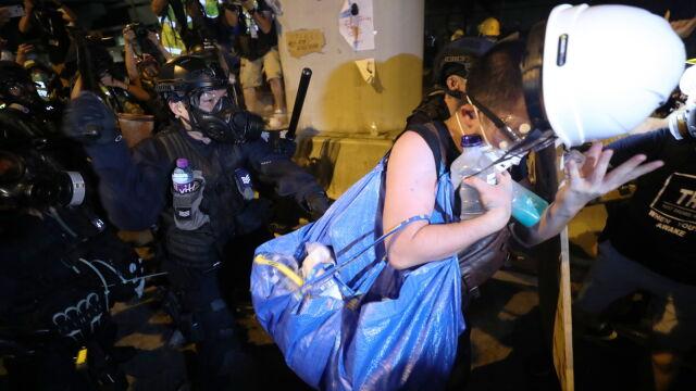 Policja spacyfikowała protest w Hongkongu