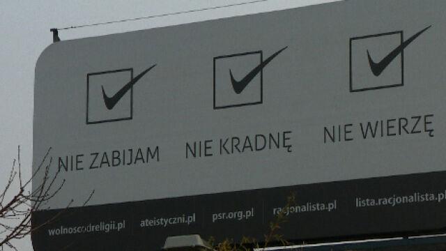 Billboardowy spór o wiarę