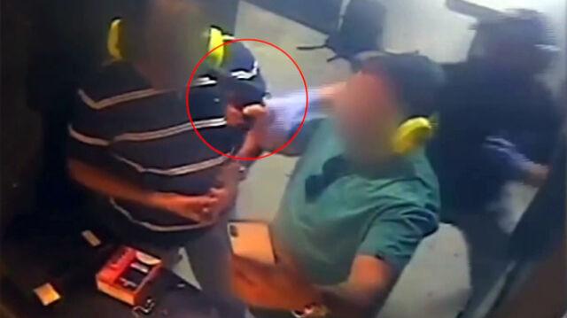 Przystawił pistolet do głowy kolegi. Błyskawiczna reakcja obsługi strzelnicy