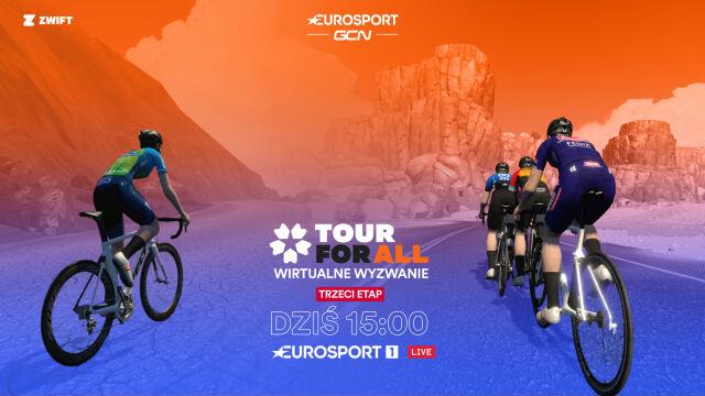Trzeci etap Zwift Tour for All. Górale wkraczają do akcji
