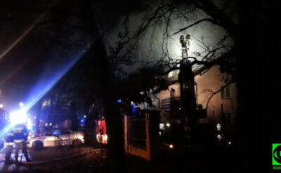 Pożar w domu pomocy społecznej w Warszawie