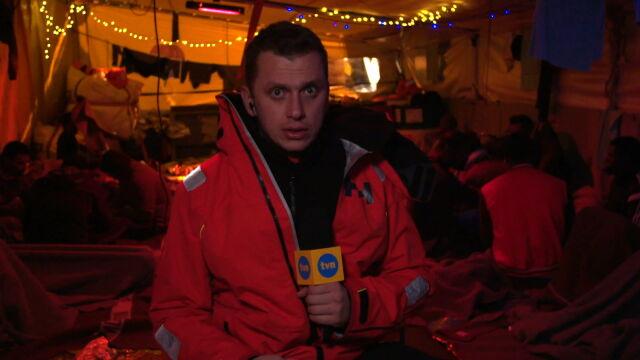 Wojciech Bojanowski na pokładzie Sea Watch 3