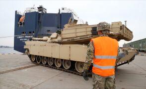 Transport czołgów USA do Estonii na ćwiczenia
