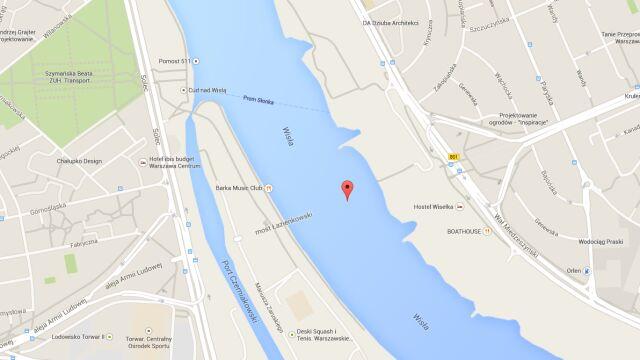 Most Łazienkowski zniknął z mapy