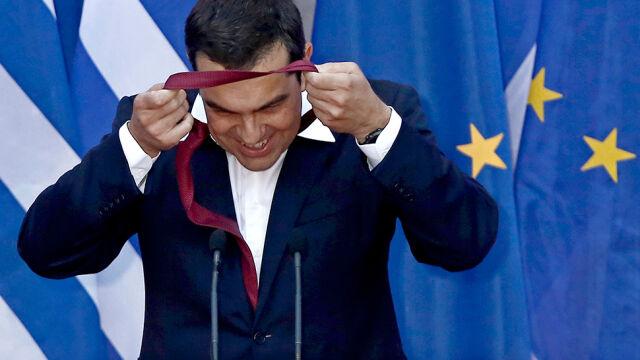 Cipras po raz pierwszy w krawacie