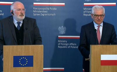 Timmermans: zmiana w polskim rządzie doprowadziła do zmiany w klimacie naszych relacji
