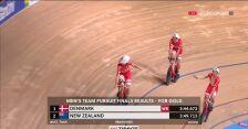 Dania ze złotem i rekordem świata w wyścigu drużynowym na dochodzenie w MŚ