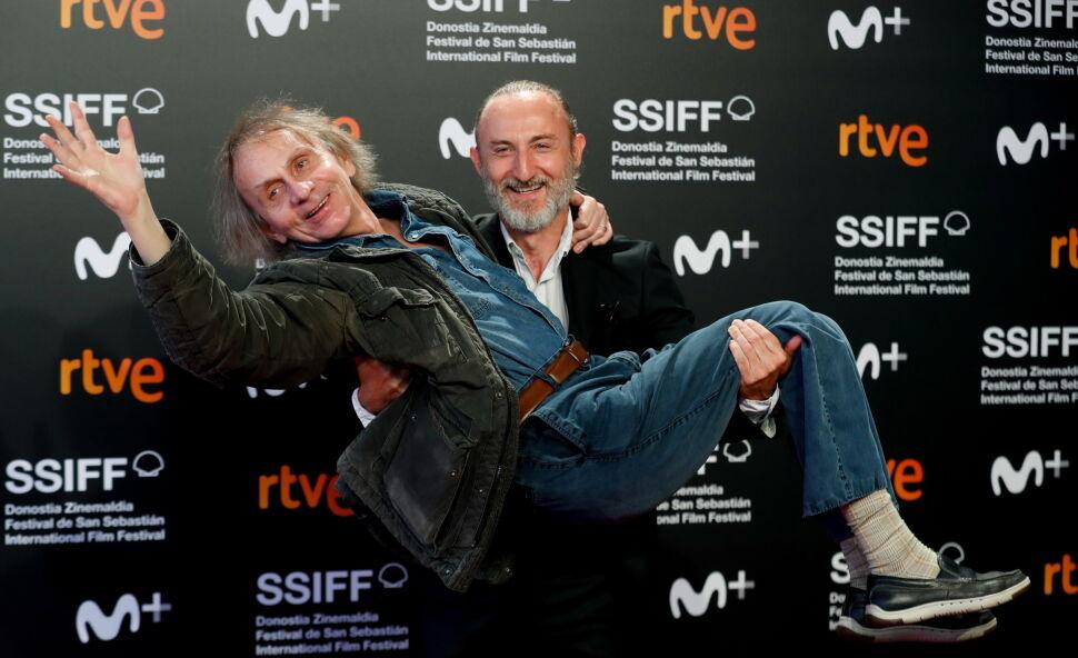 Michel Houellebecq i Guillaume Nicloux na Festiwalu Filmowym w  San Sebastian