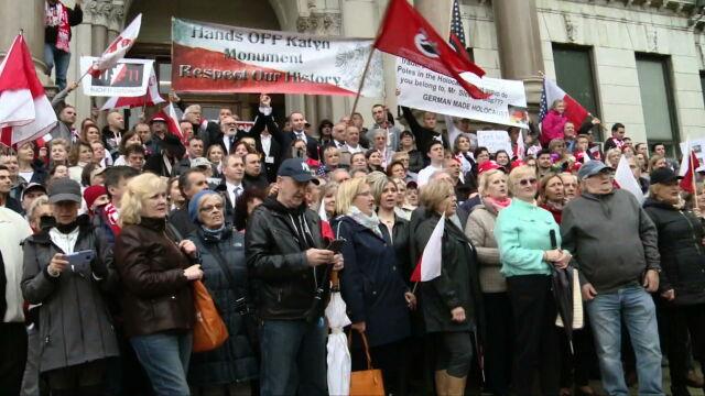 Protest Polonii w Jersey City