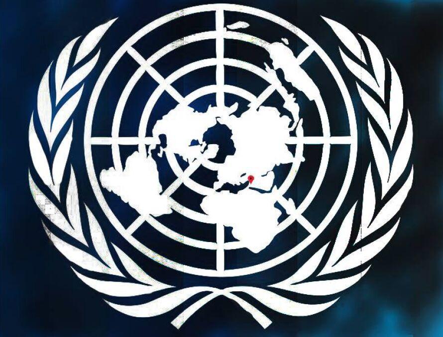 Logo ONZ i zaznaczona Madaja. Tak aktywiści apelowali o pomoc