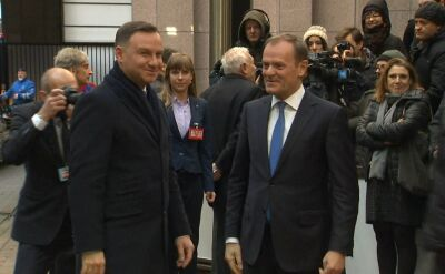 Prezydent w Brukseli. Na początek spotkanie z Donaldem Tuskiem
