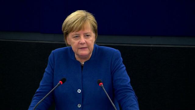 Merkel w Strasburgu: jeśli ktoś kwestionuje praworządność, zagraża całej Europie