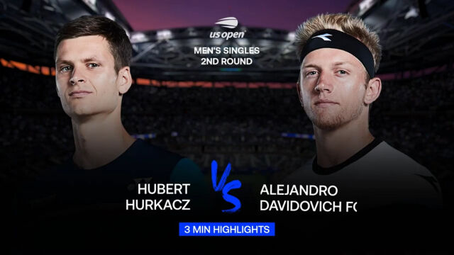 Skrót meczu Hurkacz - Davidovich Fokina w 2. rundzie US Open