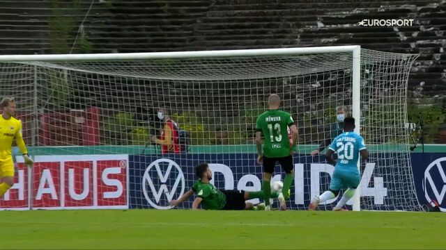 Puchar Niemiec. Preussen Muenster – Wolfsburg 1:3. Gol Ridle Baku