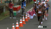 Tokio. Amdouni wywrócił kilkanaście butelek z wodą podczas maratonu