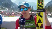 Kamil Stoch po niedzielnym konkursie w Planicy