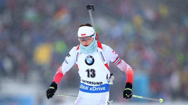Wierer z biathlonową Kryształową Kulą. Hojnisz daleko na trasie