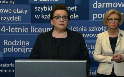 Minister Zalewska o podwyżkach dla nauczycieli