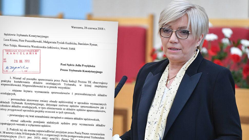 """""""Nie możemy dłużej milczeć"""". List sędziów Trybunału Konstytucyjnego do Julii Przyłębskiej"""