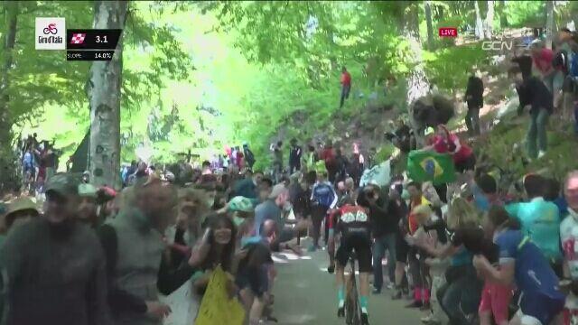 Kryzys Egana Bernala pod koniec 17. etapu Giro d'Italia